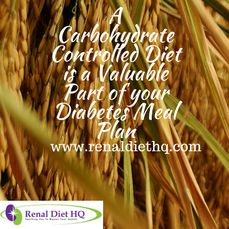 A Carbohydrate Controlled Diet is a Valuable Part of your Diabetes Meal Plan
