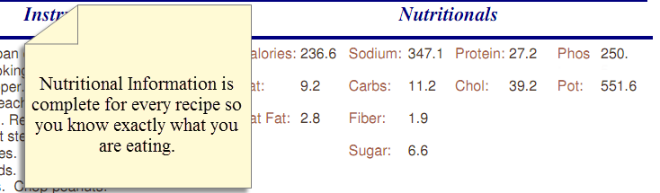MP nutritional info