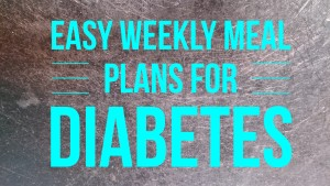 weekly meal plan diabetes